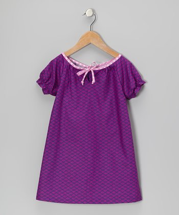 Purple Argyle Lily Dress - Toddler & Girls