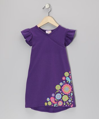 Purple Flower Nannette Dress - Infant, Toddler & Girls