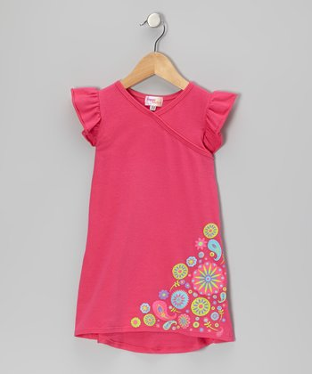 Fuchsia Flower Nannette Dress - Infant, Toddler & Girls