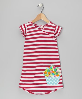 Pink Stripe Cupcake Nannette Dress - Infant, Toddler & Girls