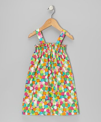 Purple Confetti Dot Sierra Dress - Infant, Toddler & Girls