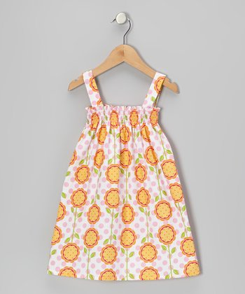 Tangerine Floral Sierra Dress - Infant, Toddler & Girls