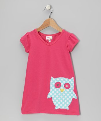 Fuchsia Owl Kara Dress - Infant
