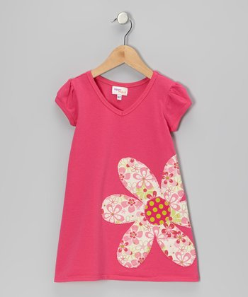 Fuchsia Flower Kara Dress - Infant, Toddler & Girls