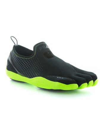 Black & Neon Green Skele-Toes Emergence Hiking Shoe - Men