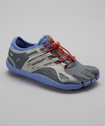 Gray & Blue Skele-Toes Bay Runner Shoe - Women