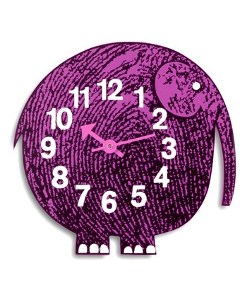 Elihu the Elephant George Nelson Zoo Timer Wall Clock