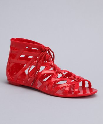 Red Loop-O-Rama Gladiator Sandal