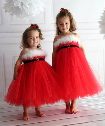 Red Santa Tutu Dress - Infant, Toddler & Girls