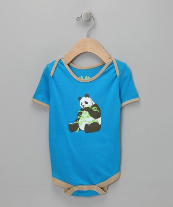 Blue Panda Snack Bodysuit - Infant
