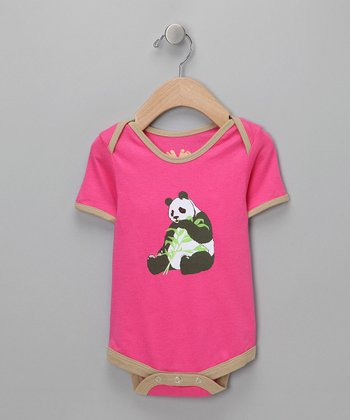 Pink Panda Snack Bodysuit - Infant