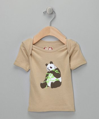 Tan Panda Snack Tee - Infant