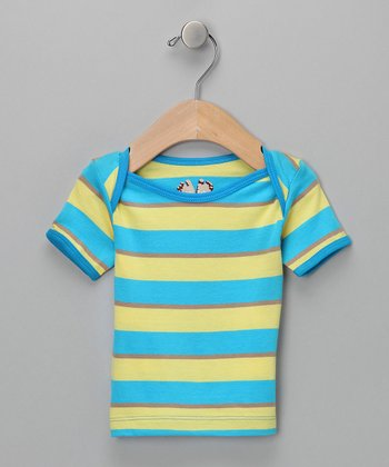 Blue & Yellow Stripe Tee - Infant