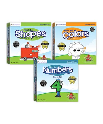 Numbers, Shapes & Colors Board Book Set