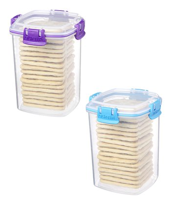Purple & Blue Medium Cracker Container Set