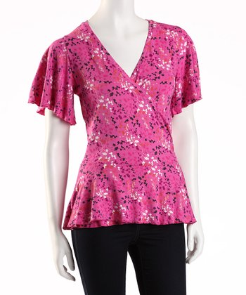 Jonäno Bloom Flutter Surplice Top - Women