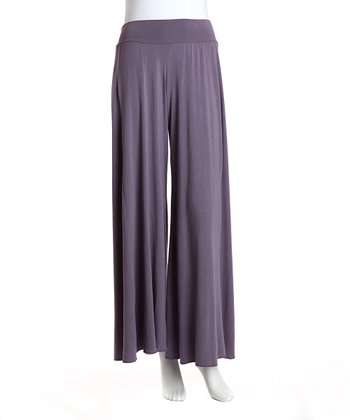 Jonäno Purple Angel Palazzo Pants - Women