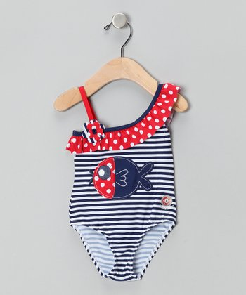 Nautical Fish Sun Alert One-Piece - Infant