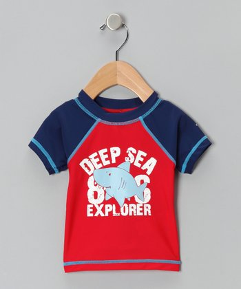 Red Shark Sun Alert Rashguard - Infant, Toddler & Boys