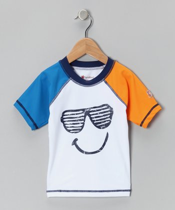 White Glasses Sun Alert Rashguard - Infant