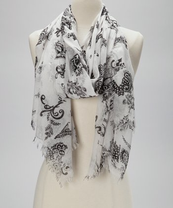Black & White Paisley Scarf