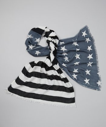 Black & Gray Flag Scarf