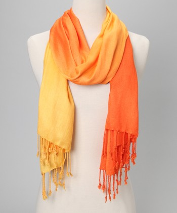Orange & Yellow Ombré Scarf