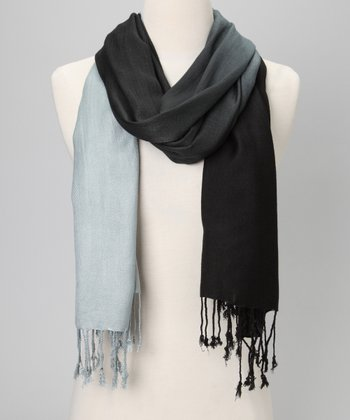 Black & Gray Ombré Scarf