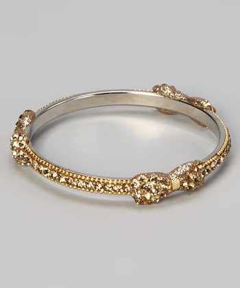 Gold Crystal Bow Bracelet