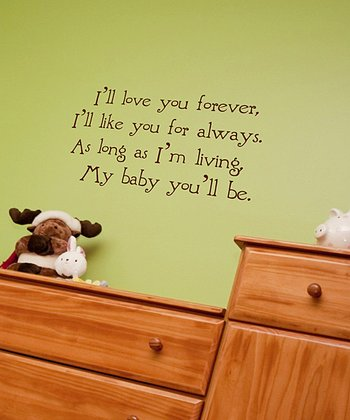 Chocolate Nursery Wall Quote