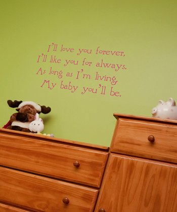 Soft Pink Nursery Wall Quote