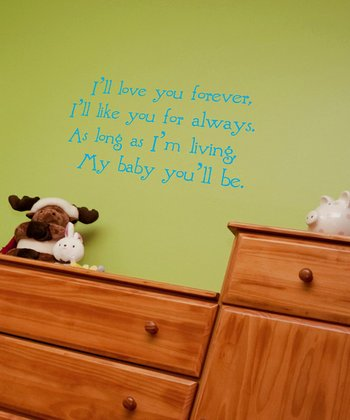 Ice Blue Nursery Wall Quote