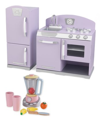 Lavender Retro Kitchen & Pastel Smoothie Set