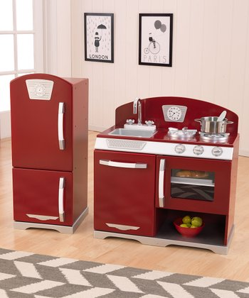 Cranberry Retro Kitchen