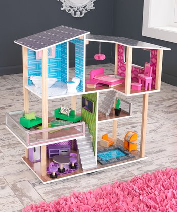 Modern Living Dollhouse Set