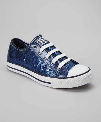 Navy Sequin Ca-Disco Sneaker - Women