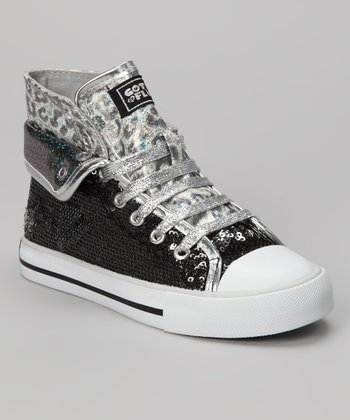 Black Convertible Aurora G Sneaker - Kids