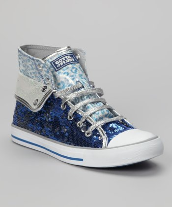 Blue Convertible Aurora Hi-Top Sneaker - Women