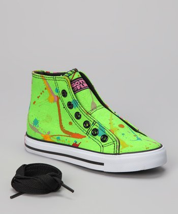 Green Epic Neon Sneaker - Kids