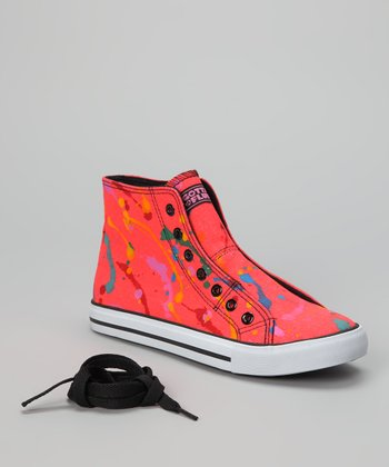 Orange Epic Neon Hi-Top Sneaker - Women