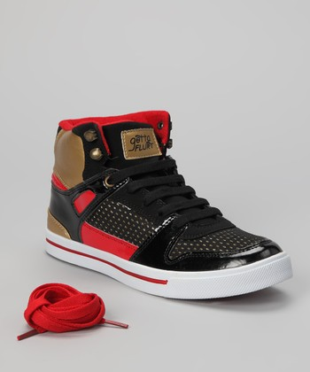 Black Hip Hop Hi-Top Sneaker - Women