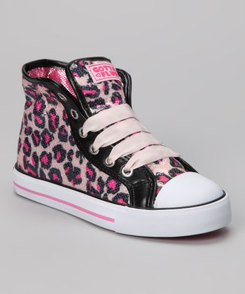 Hot Pink Pop Punk Hi-Top Sneaker