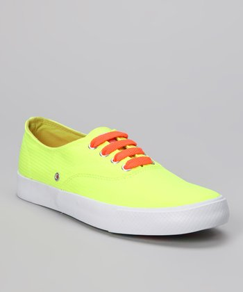 Neon Yellow Rippy Sneaker - Women