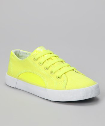 Neon Yellow Sunrise Sneaker - Kids