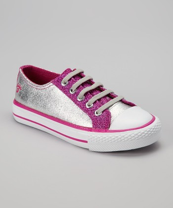 Hot Pink Twisty Shim Sneaker - Kids