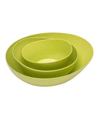 Kiwi Moso Three-Piece Serving Bowl Set