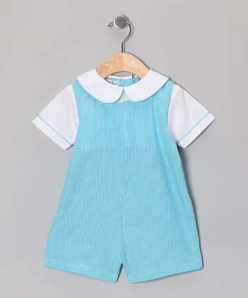 Turquoise Layered Romper - Infant