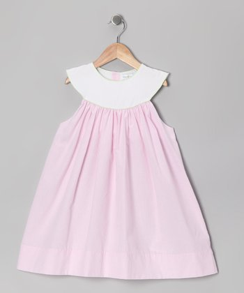 Pink Gingham Yoke Dress - Infant