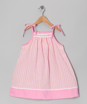 Pink Seersucker Swing Dress - Infant & Toddler