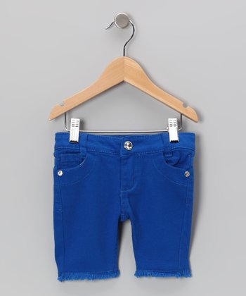 Royal Frayed Bermuda Shorts - Toddler & Girls